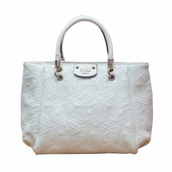 Guess Cube Abbey Quilted Bag (White)