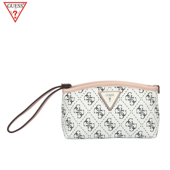 Guess Jianyue New style lettered clutch bag women's bag (White)