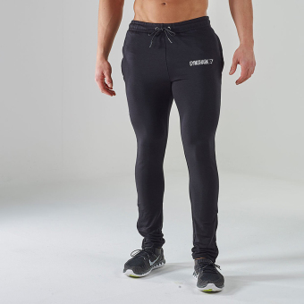 Gym muscle running fitness training pants skinny pants (Black)