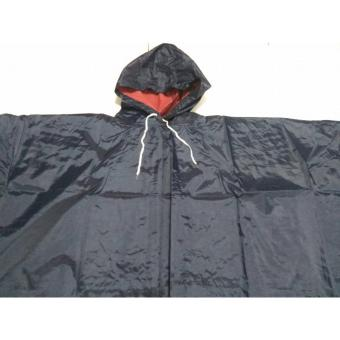 H-628 Lightweight Poncho Rain Coat (Black)