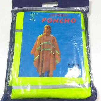 H-628 Lightweight Poncho Rain Coat (Neon) - 3