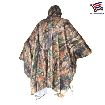 H-917 Multifunction Military Camouflage Waterproof Universal SizeRain Coat Poncho - 3