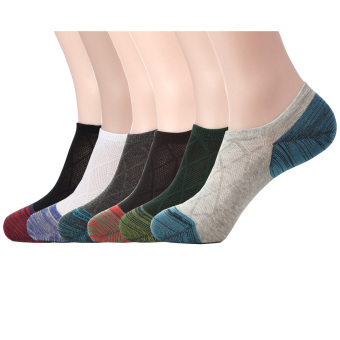 Habiter Men's Cotton No Show Socks,Low Cut Ankle Socks For Men Set of 6(Multicoloured)