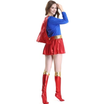 Halloween Women Cosplay Superwoman Dresses Costume Ladies Cospaly Party Superhero Dress Sexy Fancy Costume For Adult - intl - 4