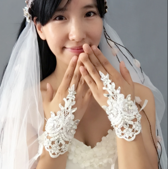 Han Fei entirely handmade sewing high-end wedding veil small gloves Price Philippines