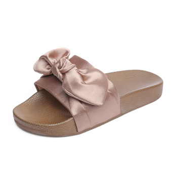Hana Cooljie GONGTING style outerwear women's slippers (Champagne color)