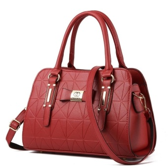 Handbag for Women Sweet Lady Fashion Leather Shoulder Hand Bag Female Top Handle Bags Wine red