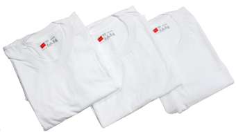 Hanes Tagless Comfort for Men Crew Neck (White) - Set of 3 - 2