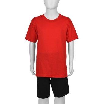 Hanford Boys' Classic Round Neck Short-Sleeved Shirt