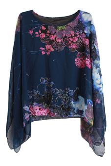 Hang-Qiao Big Print Shirt (Blue)