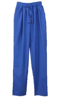 HANG-QIAO Casual Harem Pants (Royal Blue)