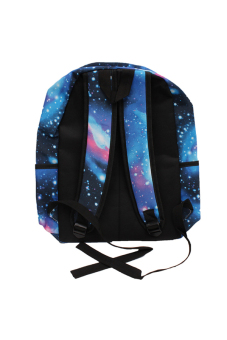 HANG-QIAO Galaxy Pattern Backpack (Blue) - picture 2