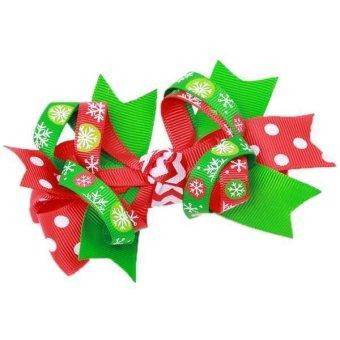 Hang-Qiao Girls Christmas Hair Clips Bobby Pin Gift Multicolor