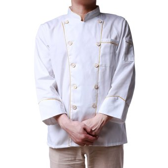Hang-Qiao Kitchen Working Uniform Chef Waiter Waitress Jacket White