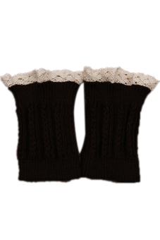 HANG-QIAO Knitted Leg Warmers Coffee