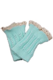 HANG-QIAO Knitted Leg Warmers Lake Blue