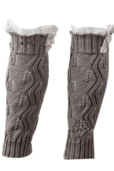 Hang-Qiao Knitted Socks Leg Warmers (Grey)