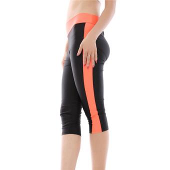 HANG-QIAO Leggings (Black/Orange) - picture 2