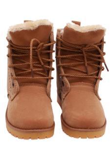 Hang-Qiao Lovers Unisex Martin Boots Winter Snow Warm Shoes Khaki - 3