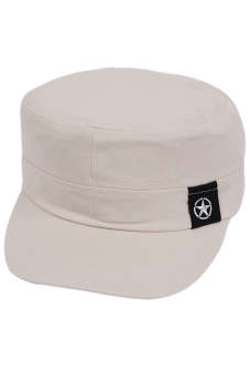 Hang-Qiao Unisex Peaked Caps Sport Plain Adjustable Beige