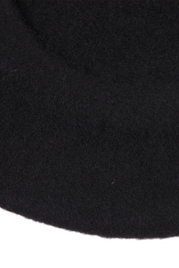 Hang Qiao Women Beret Cap Vintage Solid Color Beanie Hat Classic Berets Black .