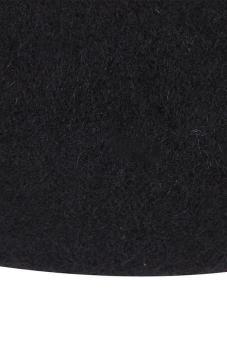 Hang-Qiao Women Beret Cap Vintage Solid Color Beanie Hat ClassicBerets Black - 4