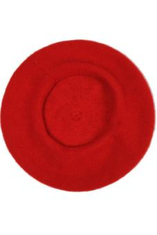 Hang-Qiao Women Beret Cap Vintage Solid Color Beanie Hat ClassicBerets Red - 3