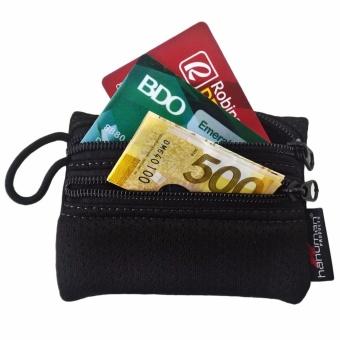 HANUMAN 2 zipper Wallet coin money purse pouch Set of 3 (Black) - 2