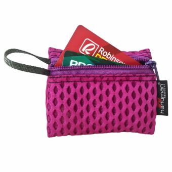 HANUMAN single-zipper wallet coin money purse pouch ( Lavander Pink)