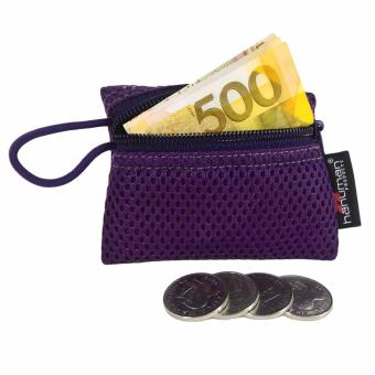 HANUMAN single-zipper wallet coin money purse pouch ( Violet )