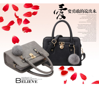 Hanyu Artificial Leather Scrub Hanging Tote Bags for Women Ladies Black - 2