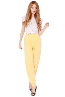 Hanyu Comfortable Trousers Modal Loose Pants Yellow