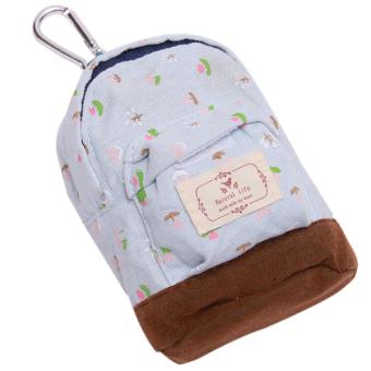 Hanyu Key Bag Floral Lovely Hang Type Small Bag Blue