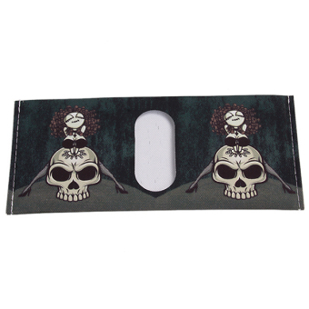 Hanyu Skeleton Canvas Fashion Students Male Wallet Black - picture 2
