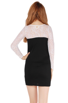 Hanyu Women Lace Dresses Dating Skirts (White) - picture 2