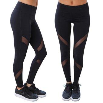 Hanyu Women Sport Trousers Professional Yoga Pants Jogging pants Cropped Leggings Fitness Trousers (Black) - intl - 4