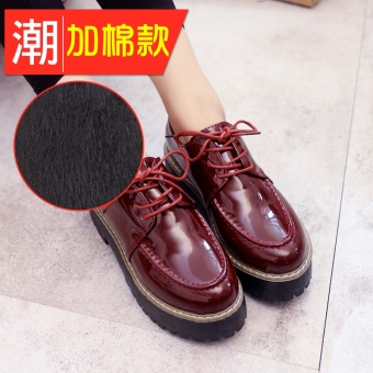 Harajuku autumn New style platform shoes (Female Models + Red Plus Cotton) Price Philippines