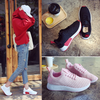 Harajuku Korean-style autumn student shoes sports shoes (Pink)