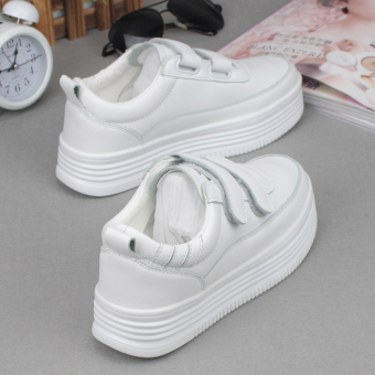 Harajuku Korean-style magic stickers student platform shoes white shoes (White)
