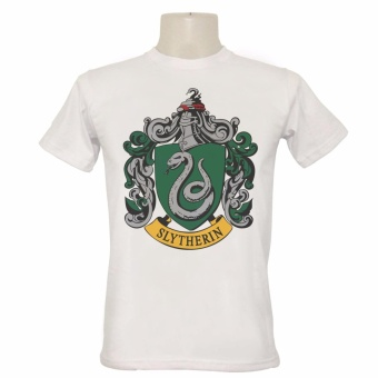Harry HP Potter Slytherin Crest T-shirt (White)