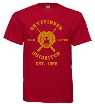 Harry Potter Gryffindor T-Shirt (Maroon)