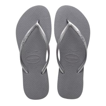 Havaianas Fashion for Women Slim Cinza Aco Flip Flop (Gray)