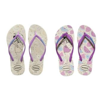 Havaianas Fashion for Women Slim Secret Purpura Flip Flop (White)