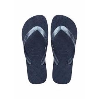 Havaianas Fashion For Women Top Tiras Indigo Blue Flip Flop (Blue)