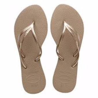 Havaianas Fashion For Women Tria Rose Gold Flip Flop (Gold)