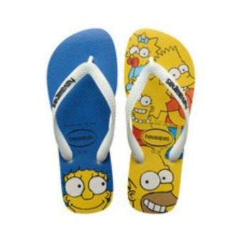 Havaianas Men's Simpsons Branco Sandal Flip Flop (White/Yellow)