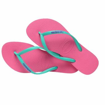Havaianas Top Women's Flip Flop Fashion Slim Logo Pop Up Maravilha(Pink)