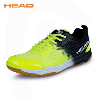 Head breathable professional training shoes New style feather shoes (1765 flourescent green)