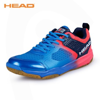 Head breathable professional training shoes New style feather shoes (1765 sapphire blue)