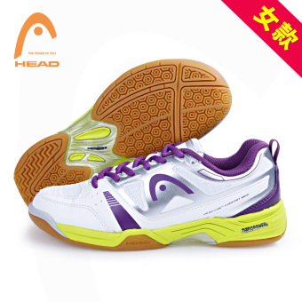 Head genuine non-slip wear and sports shoes badminton shoes (1733 white dark purple women's)